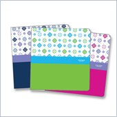 Five Star Geometric Floral Poly Binder