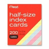 MeadWestvaco Half Size Index Card