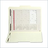 SJ Paper Manila Reinforced Folder with Fasteners