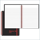 John Dickinson Black n' Red Perforated Notebook
