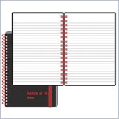 John Dickinson Black n' Red Ruled Notebook