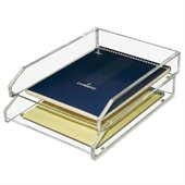 Kantek Acrylic Double Letter Tray