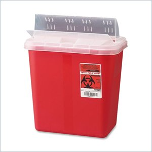 Unimed-Midwest Sharp Container with Drop Lid