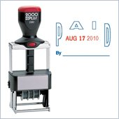 COSCO ClassiX Self-Inking PAID Message/Date Stamp