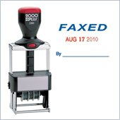 COSCO ClassiX Self-Inking FAXED Message/Date Stamp