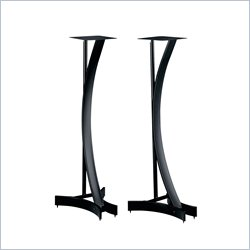 Bello 30 Inch Black Metal Speaker Stands