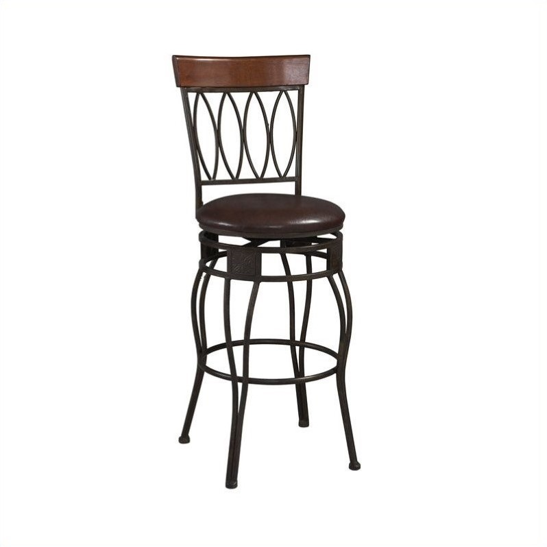 Linon Oval Back Counter Stool