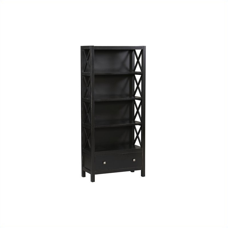 Linon Anna Collection 5 Shelf Bookcase in Antique Black at Sears.com