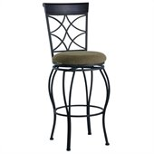 Linon Curves 24 Inch Counter Bar Stool in Metallic Brown and Black