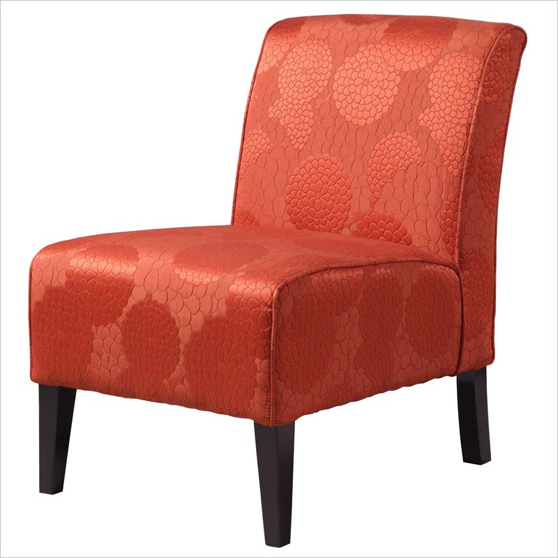 orange accent chair living room colors