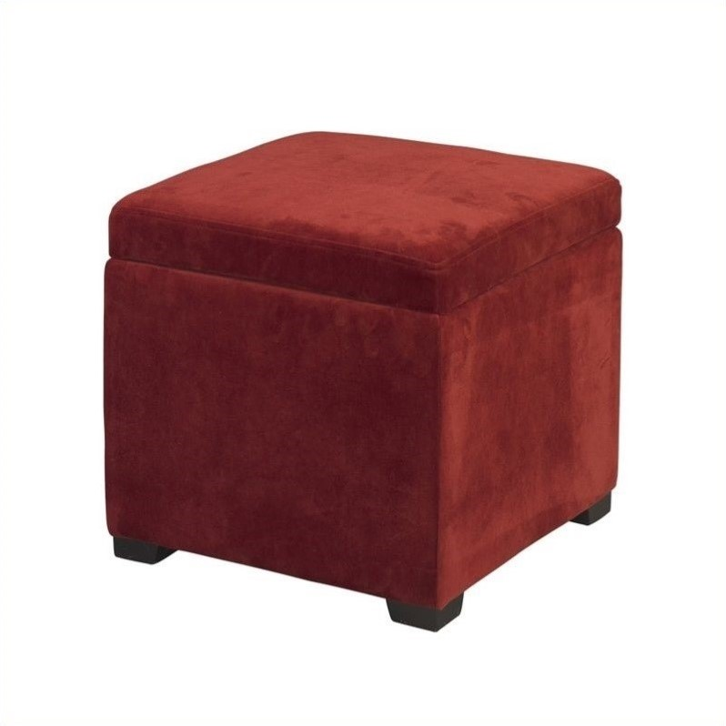 linon judith upholstered ottoman with jewelry storage in