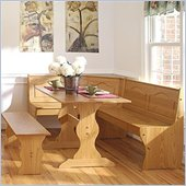 Linon Chelsea Kitchen Dining Nook Set in Natural Finish