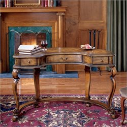 Butler Specialty Heritage Crescent Wood Writing Desk in Medium Wood