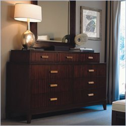 Lexington Zacara Lowell 9 Drawer Double Bedroom Dresser in Sable