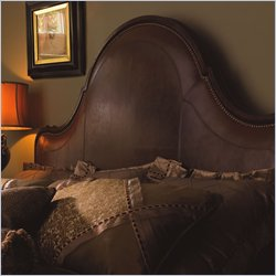 Lexington Barclay Square St. Regis Distressed Leather Headboard in Rich Brown