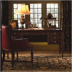 Lexington Barclay Square Hatfield Wood Writing Desk in Distressed Cherry