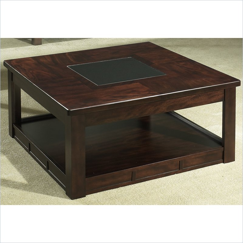 Somerton Serenity Square Wood Cocktail Brown Coffee Table