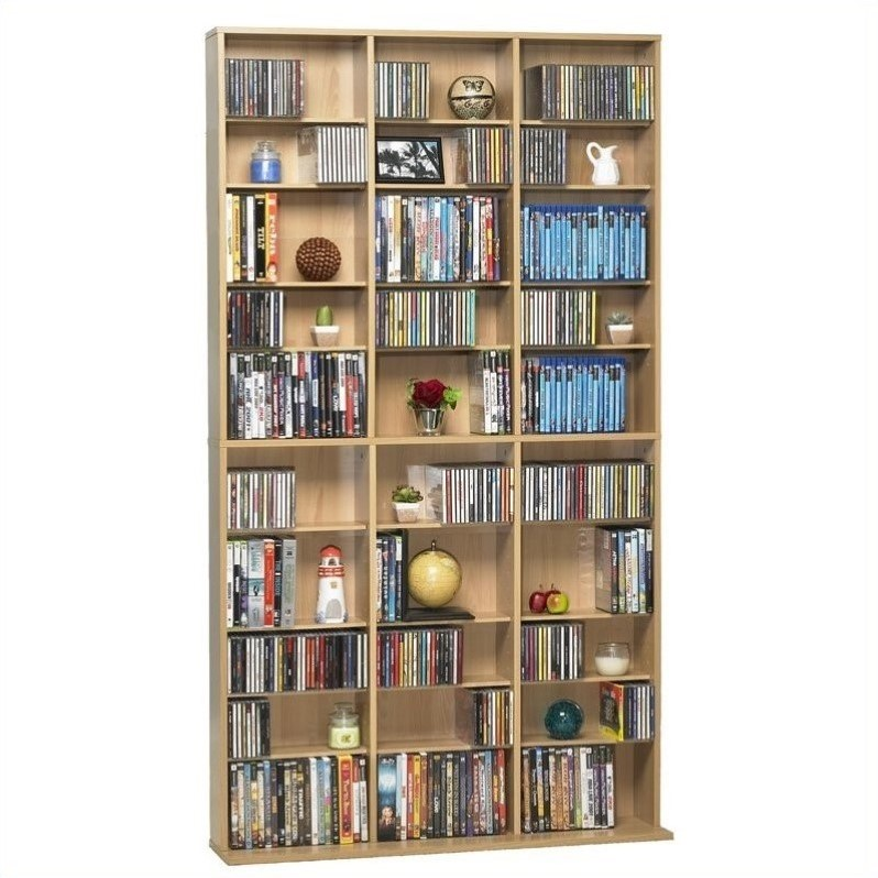Atlantic Inc Oskar 1080 CD 504 DVD Multimedia Storage Tower in Maple at Sears.com