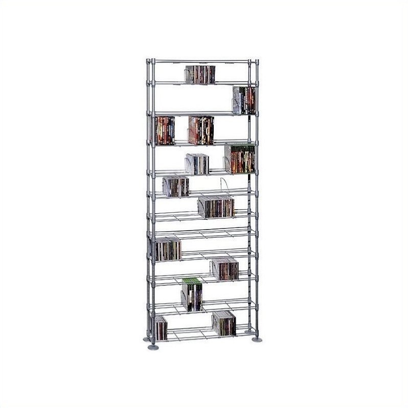 Atlantic Max Steel 12 Tier Media Rack - 864 CD 450 DVD