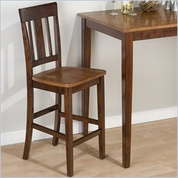 Jofran Triple Upright Counter Height Stool in Kura Espresso & Canyon Gold (Set of 2)