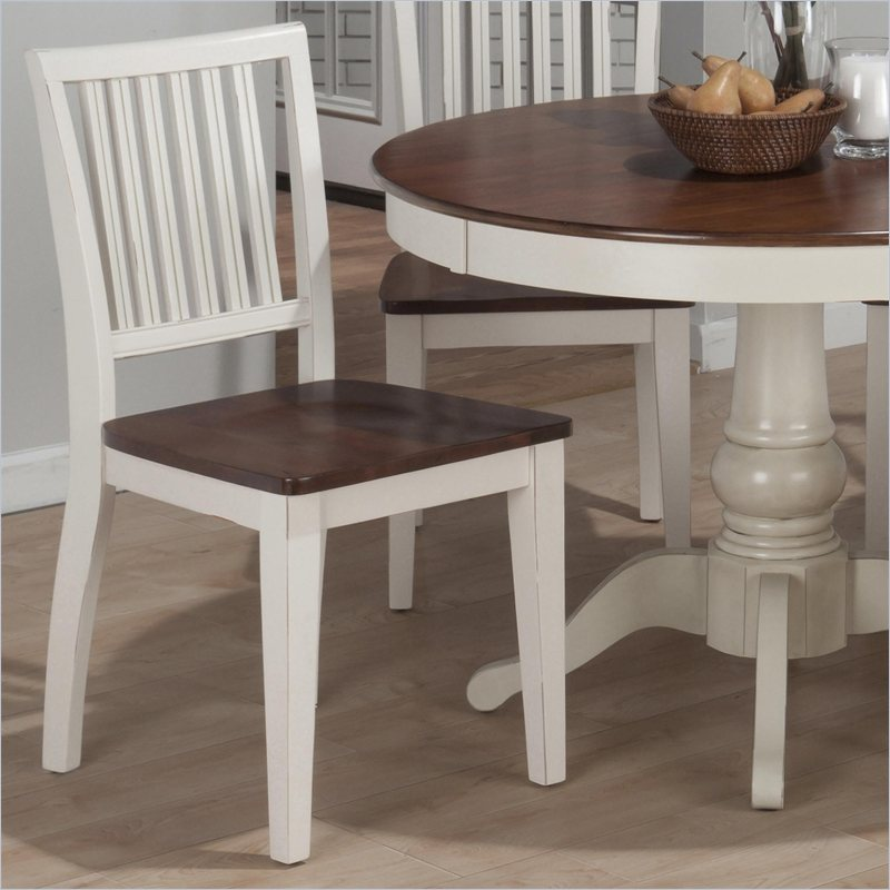 Jofran Madison County Salem Slat Back Side Chair in Antique Cream (set of 2) at Sears.com