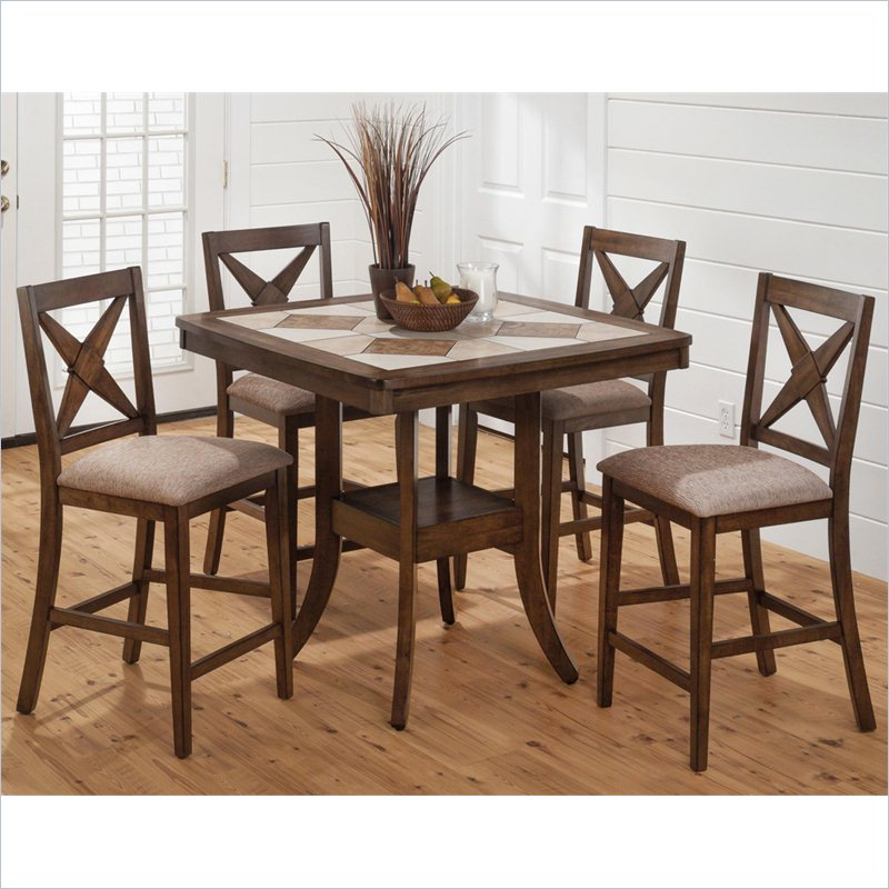 Jofran 794 Series Counter Height Pub Table With Tile Details In Tucson