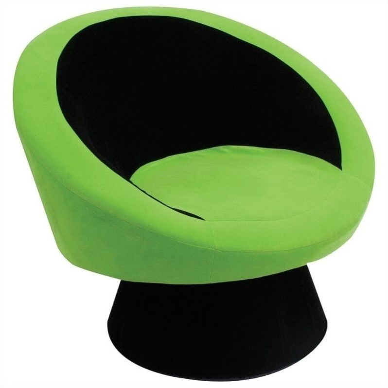 Lumisource Saucer Chair in Black,Green at Sears.com