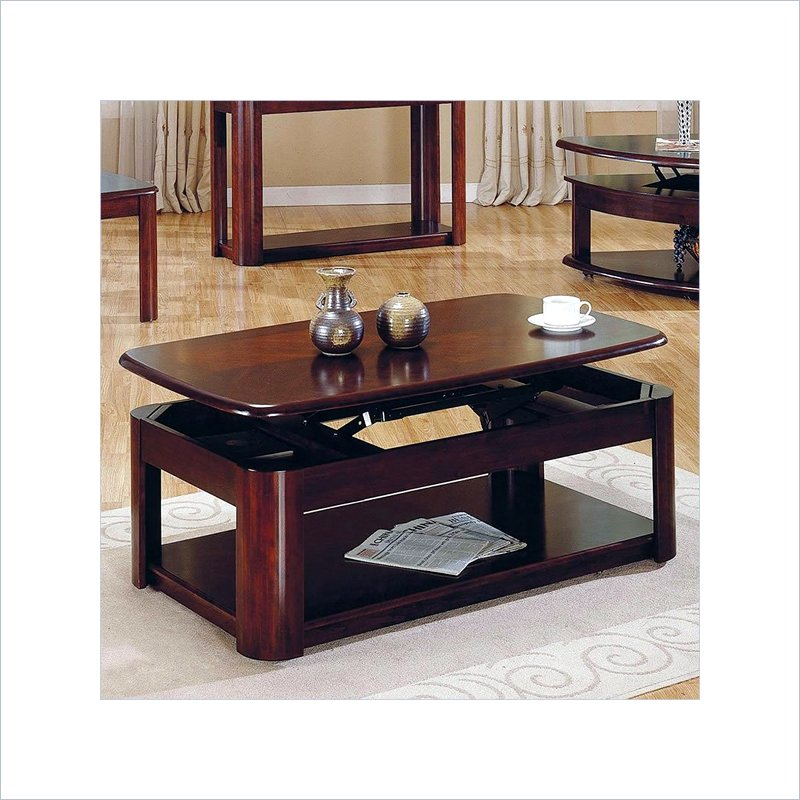 Steve Silver Company Lidya Rectangular Cherry Wood Lift Top Coffee Table Ebay