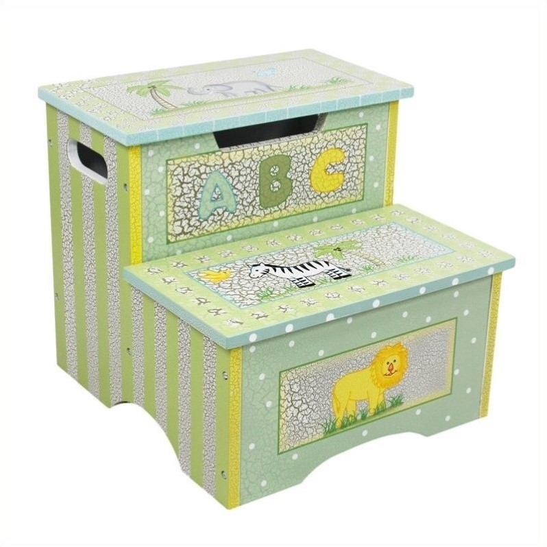 Teamson Design Teamson Kids Safari Hand Painted Crackle Finish Kids Step Stool at Sears.com