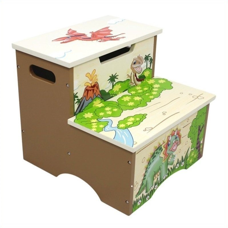 Teamson Design Dinosaur Kingdom Kids Step Stool with Storage at Sears.com