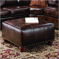 Simmon Upholstery Savnnah Leather Ottoman