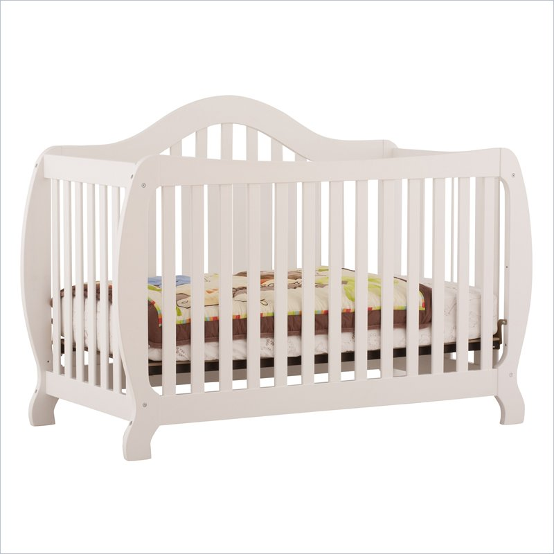 Stork Craft Monza 2-in 1 Fixed Side Convertible Crib in White at Sears.com