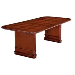 Allura Office Antigua 8' Rectangular Conference Table with Slab Base in Cherry