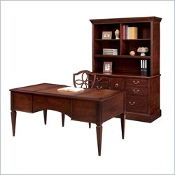 Allura Office Adams Wood Writing Desk in Umber Cherry