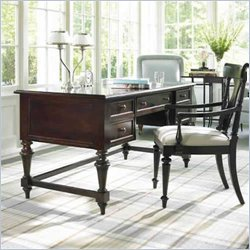 "Stanley Furniture Shelter Island 60"" Playwright's Executive Wood Writing Desk in Marimba Wood"