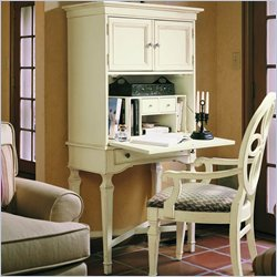 Stanley Furniture Portofino Drop Front Wood Secretary Desk in Ivory