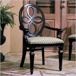 stanley wood back dining chair with arm