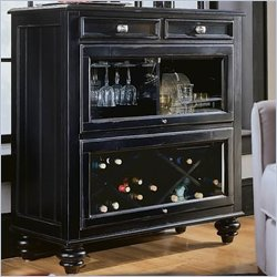 American Drew Black Bookcase Bar