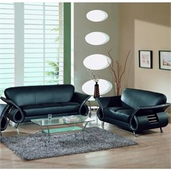 Global Furniture USA Leather Sofa Set