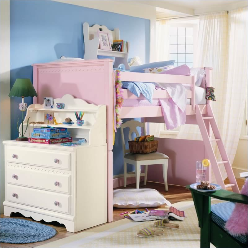Lea Spring Garden Twin Low Loft Bed