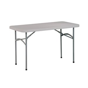 Office Star 4' Resin Rectangular Multi Purpose Table with Traditional 4 Post Legs
