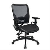 Office Star 62 Series Ergonomics AirGrid Seat and Back Chair in Black