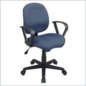 Office Star Task Chair with Saddle Seat and Contemporary Loop Arms