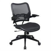 Office Star 13 Series AirGrid Seat and Back Chair with Arms in Black
