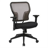 Office Star 213 Series AirGrid Back Seat Chair in Black and Latte