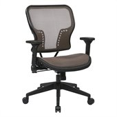 Office Star 213 Series AirGrid Seat Chair in Latte and Black