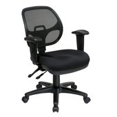 Office Star Ergonomic Task Chair with Adjustable Arms in Coal