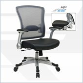 Office Star 317 Series Light AirGrid Back Chair with Memory Foam