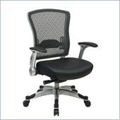 Office Star 317 Series Executive Breathable Mesh Back Chair in Black