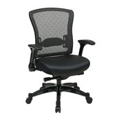 Office Star 317 Series Executive Eco Leather Back Chair in Black